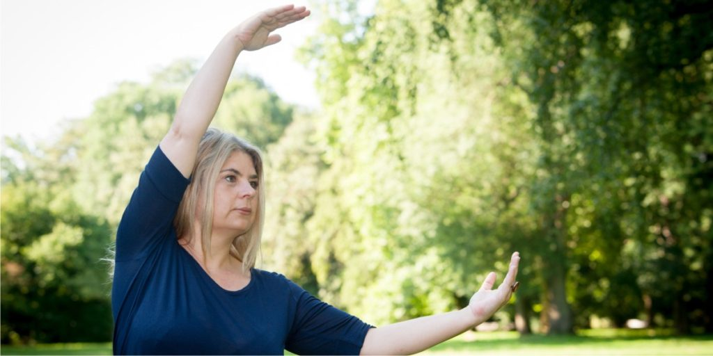 QiGong-Übung im Park in Halle